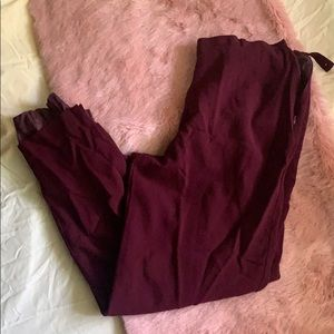 Maroon Liz Claiborne Women's Dress Pants
